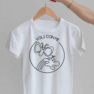 t-shirt voli con me impresa mamma
