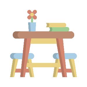 icone tavolino e sedie